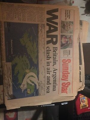 Sunday Star May 2 1982 Falkland Islands War Newspaper