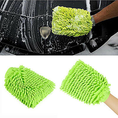Car Wash Mitts Premium Microfiber Chenille Super Absorbent with Dual-Sided Glove