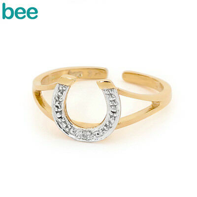 Horse Shoe Diamond 9ct 9k Solid Yellow Gold Toe Ring 24085