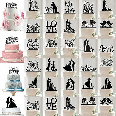 Cake Topper Wedding Mr & Mrs Bride & Groom Anniversary Party Favours Decoration