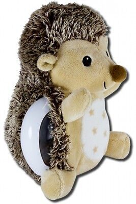 Twilight Buddies Hedgehog plushy nightlight sleep safety stars moon ceiling wall