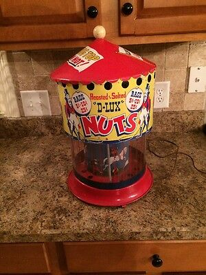 Vintage D-Lux Nuts Coin Operated Machine Carnival Circus