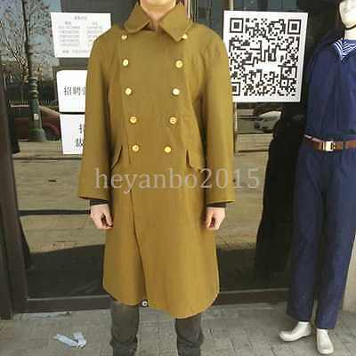 Accurate Reproduction Ww2 Japan Military Army Officer Winter Over Coat Parka