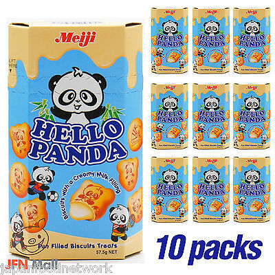 MEIJI Hello Panda Milk Biscuits 50g x 10 pack