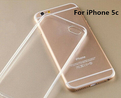 Thin Clear Transparent Soft TPU Silicone Phone Cover Case Shell For iPhone 5C AU