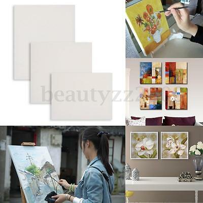 White Blank Artist Canvas Art Oil Acrylic Painting Square Board Wooden Frame HOT