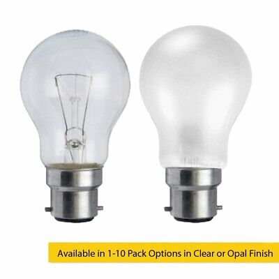 40W BC B22d Incandescent GLS Light Bulb in Clear & Opal Series, Home or Business