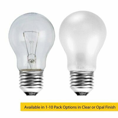 40W ES E27 Incandescent GLS Light Bulb in Clear or Opal Series Home / Business