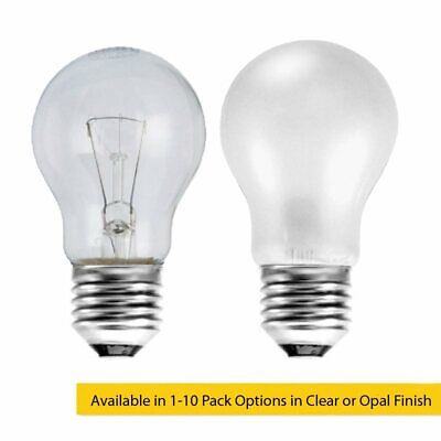 60W ES E27 Incandescent GLS Light Bulb in Clear or Opal Series, Home / Business