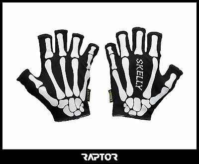 Kids/Mini/Junior Skeleton Rugby Grip Gloves/Stick Mits/Mitts. Adult Small 13yrs+