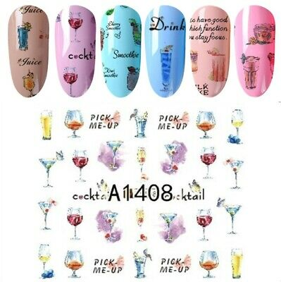 Nail Art Stickers Water Decals Transfers Flowers (XF1423)
