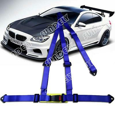 Sundely 3 Point Blue Racing Seat Belt Harness Kit For Car / Off Road / 4x4