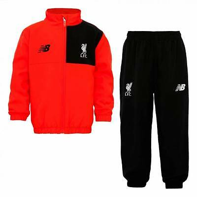 New Balance Liverpool Training Presentation Tracksuit 2016/17-Red- Kids