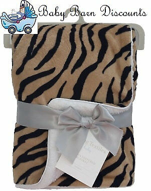 NEW Living Textiles - Velboa Blanket - Tiger from Baby Barn Discounts