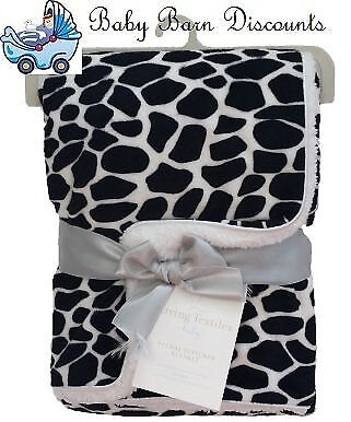 NEW Living Textiles - Velboa Blanket - Leopard Black from Baby Barn Discounts