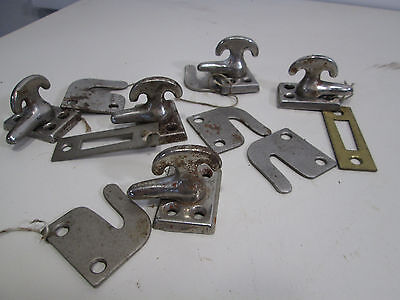 4 Vintage Chrome Metal Turn Latches  #454