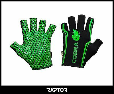 Kids/Mini/Junior Cobra Rugby Grip Gloves/Stick Mits/Mitts Adult Small: 13yrs+