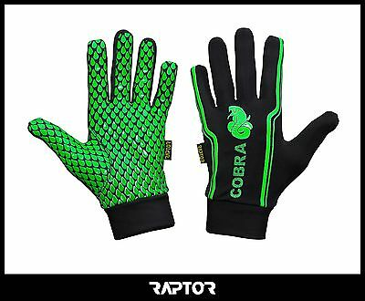 Mini/Junior Cobra Rugby Full Grip Gloves/Stick Mits/Mitts Medm Boys/XXS 9-10yrs
