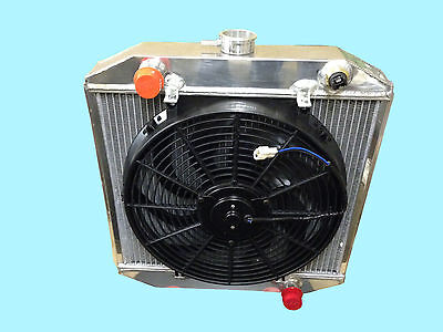 "Ford Escort Mk 1 / 2, Cortina 42Mm Core Aluminium Radiator + 14"" Fan & Switch"