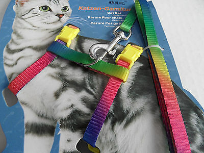 Cat Kitten Adjustable Harness and Lead Set