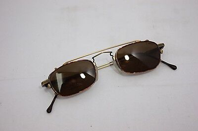Neostyle NOS Vintage Eyeglasses College 76 44mm Antique w/ clip on sunglasses