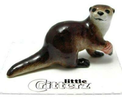 "Little Critterz Miniature Porcelain Animal Rescue River Otter ""Webster"" LC609"