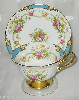 Beautiful Shelley - Dubarry Blue  w/Gold - Teacup Set