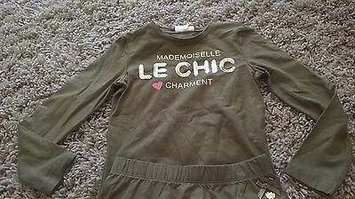 S & D Le Chic Khaki 2 Piece Skirt Set Age 6 Bnwt Studs & Diamonds S&d Le Chic