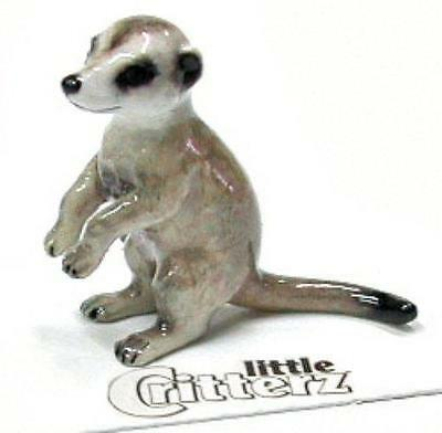 "Little Critterz Miniature Porcelain Animal Figure Meerkat ""Lookout"" LC403"