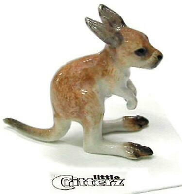 "Little Critterz Miniature Porcelain Animal Figure Kangaroo Joey ""Rufus"" LC423"