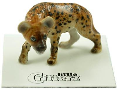 "Little Critterz Miniature Porcelain Animal Figure Spotted Hyena ""Whoop"" LC822"