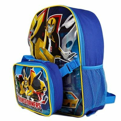 "Transformers* Robots in Disguise 16"" School Backpack & Attachable Lunch Bag-1529"