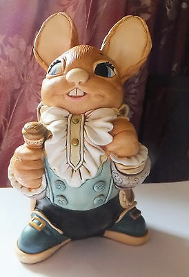 "Pendelfin hand painted stone craft "" Father Rabbit "" figurine"