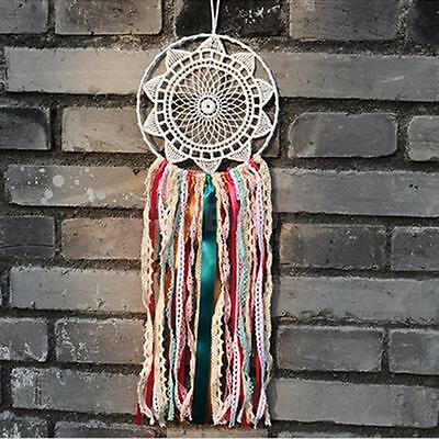 Indian Muticolor Tassel Dreamcatcher With Hanging Lace Ribbon Car Home Decor