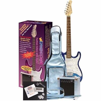 New Darling Divas DD950MB Electric Guitar Pack, Mystical Blue + Free Shipping