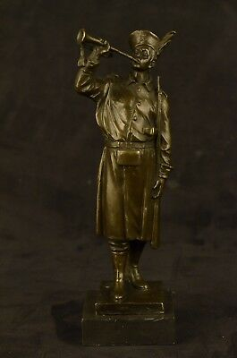 Soldier Warrior Military Hero Art Deco Bronze Sculpture Hot Cast Figure