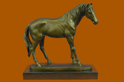 Large Art Deco Hot Cast Arabian Racing Bronze Sculpture Hot Cast Figure