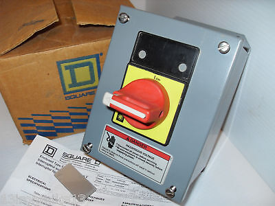 New Square D 9421 V1A30X11 9421V1A30X11 Manual Motor Starter Load Break Switch