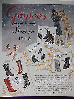1941 Gaytee's Stormy Weather Women's Shoes and Boots Advertisement