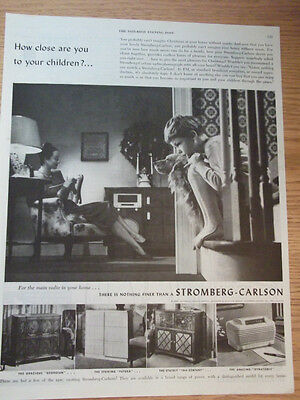 1946 Stromberg Carlson Radio Phonograph 4 Models Named & Shown Advertisement