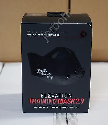 ELEVATION Training Mask 2.0 BLACK OUT - High Altitude - Medium = 150 - 240 lbs.
