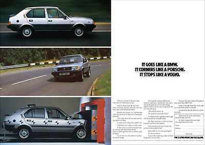 Volvo 360 Glt 2 Litre Retro A3 Poster Print From Classic 80's Advert