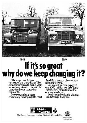 Land Rover Series 2A Iia & Series 1 Retro A3 Poster Print From Classic Advert