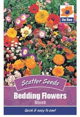 2 Packs of Bedding Flowers Mixed Scatter Seeds, Approx 200 seeds per packet