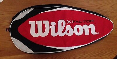 WILSON K FACTOR TENNIS RACKET Red White Backpack Cover Case Carry On Bag