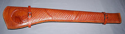 TAN TOOLED  LEATHER  SCABBARD  (Rifle Holster)