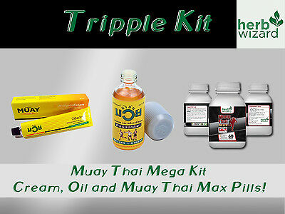 Namman Muay Thai Boxing Oil Liniment Muscular Pain 120cc Mega Kit
