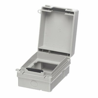 Europa IP65 1 Gang Weatherproof Outdoor Socket & Switch Accessory Enclosure Box