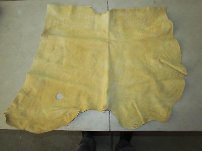 "Native American Light Coloured Home Tanned Moose Hide Soft 31"" In By 23"" In"