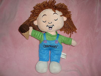 "Chapman's Ice Cream Doll Plush 12"" tall"